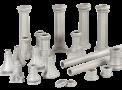 20 Onderdelen voor sier-kolommen systeem   Aluminiumgieterij Declercq
